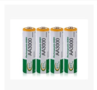 100PCS 100% New Really BTY Brand  High Perfomance Promotion NiMH 1.2V 3000mAh Rechargeable AA Battery,Free Shipping