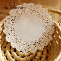 "SS16022 5.5"" Vintage napkin Hollowed Lace Paper mat Doilies Crafts DIY Scrapbooking/Card Making/Wedding Decoration(180pcs/bag)"