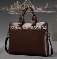 The new leather man bag men's business briefcase leather shoulder bag Messenger bag