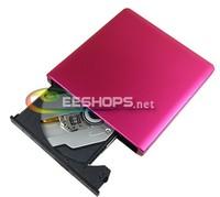 Best Cheap 3.0 External 6X 3D Blu-ray Burner BDR-TD05 BD-R DL 8X DVD RW Writer Drive for Toshiba Sumsung Ultrabook Aluminum Pink