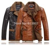 Free shipping sheep fur leather man lambs wool fur coat coat lapels