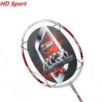 Original li ning badminton racket sport goods carbon racket g4 675mm 1 piece N55-2 training match badminton bag free shipping
