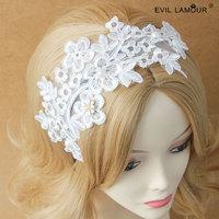 Min.order $15 Deluxe Lace Flower Headband Fashion Lolita Hair Jewelry Wedding Bride Hairband Hair Accessories Best Gift FG-38