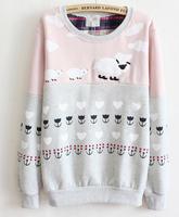 Women's Patchwork Hoodies 2014 New Fashion Fleece Pullovers Casual Harajuku Sweatshirts Long Sleeve Hoody M8056
