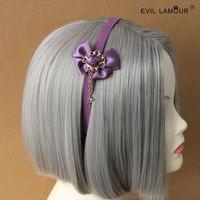 Min.order $15 Fresh Purple Rose Bohemia Hair Jewelry DIY Bride Hairband Fashion Deluxe Lolita Hair Accessories Best Gift FG-37
