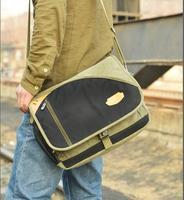 2014 New Arrival  Men's Casual Canvas School Shoulder Bags Cross Body Vintage Fashion Design Sport Man Bags Laptop Satchel