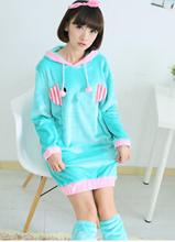 winter women robe with leg warmer winter girls sleepshirt thick ladies homewear free shipping(China (Mainland))