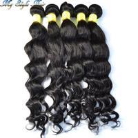 peruvian virgin hair body loose wave human hair 1b# bundles 5pcs/lot mixed length sunlight mocha new star queen luvin products