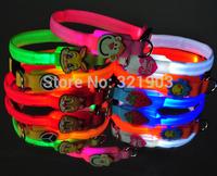The dog dog cute cartoon LED small dogs pet collar Luminous wholesale pet belt