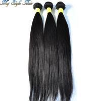 "queen hair products peruvian hair weave 2pcs lot 100% unprocessed human hair peruvian straight hair bundles mixed length 10""-36"""