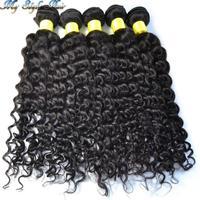 Wholesale Peruvian Virgin Hair Grade 4A Human Hair Weave Afro Kinky Curly,10Pcs/Lot Peruvian Curly Hair,10-30 Inches,Color 1B