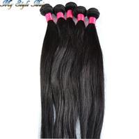 "queen hair products hot selling weft 4 bundles brazilian hair human hair weave 4pcs lot brazillian straight mixed length 10""-36"""