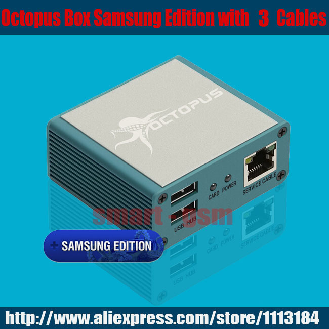 The Newest version 100% Original Octopus box for Samsung New Edition (package with 3 cables)ForS5& N900T&N900A&N9005.(China (Mainland))