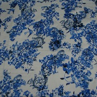 100% Silk Charmeuse Satin Fabric 114CM Width Floral Printed Fabric Textile Material By Meter