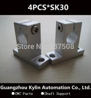 Hot Sale! 4pcs SK30 linear rail shaft support,30mm Linear Rail Shaft Support XYZ Table CNC SK Series Rail Shaft