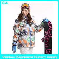 Dropshipping new attival print Snowboard Jacket Outdoor Sport Outerwear Waterproof Warm Outfit Women Coat winter ski jacket