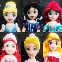 Wholesale/Retail dsney princess plush Aurora ariel Cinderella snow white soft toys for babay