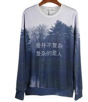 IN STOCK!2015 New Women Men Leopard tiger/pug/Pharaoh print pullover 3D Sweatshirts Hoodies jacket space galaxy sweaters tops