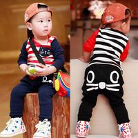 Children's clothing male 2014 child baby kid clothes 0-1 2 3 - - - 4 baby autumn child set