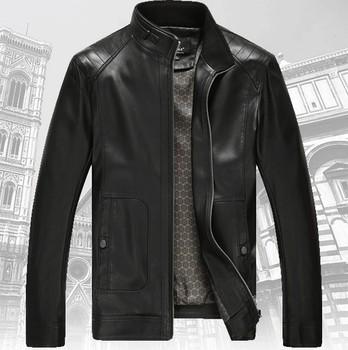 Овчины натуральной кожи куртка 2015 новый стенд воротник Большой размер M , L ; XL ...