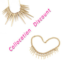Jewelry Set Punk Style Necklace and Matching Bracelet for Women 2014 New Fashion Jewelry