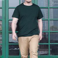 Solid color Plus size XXXXL 100% cotton short-sleeve T-shirt oversized loose fat guy men's clothing