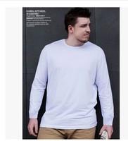 2014 Men's clothing 100% cotton long-sleeve  t-shirt o-neck plus size XXXXL Large fat basic shirt
