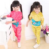 Children's clothing 2014 autumn 1 2 - - - - - 3 4 5 cartoon kids clothes casual baby female child set
