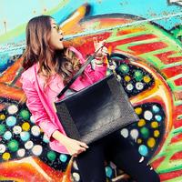 Cat bag fashion vintage exquisite fashion small rivet one shoulder women's envelope bag handbag m05-132