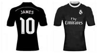 # JAMES Rodriguez  Real Madrid Jerseys 2014 2015  Black Ramos Bale Alonso  Soccer Jersey Away 3rd Black Dragon Camiseta