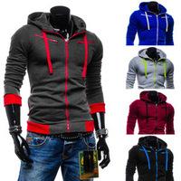 Hooded Mens Cardigan Fleece Hoodies Top Design For Men Coat Slim Male Top-grade Casual Hoodies B072 Free shipping Wholesale 2014
