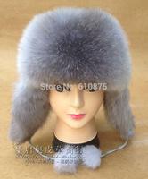 High Quality Fox fur hat Women winter ear hat lei feng ears self-shade child fox fur warm hat R96