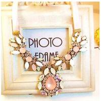 Vintage Shourouk Luxury Gem Drop Party Choker Bib Statement Necklaces & Pendants New 2014 Fashion Jewelry Women Wholesale N152
