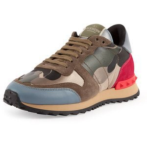 2014 New Stylish V Brand camouflage studded sneakers Genuine leather Men women's flats sports shoe(China (Mainland))