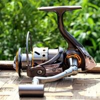 2014 Gapless Spinning Fishing Reel DK1000 13BB CNC Full Metal Rocker Saltwater Gear 5.2:1 Pesca Free Shipping