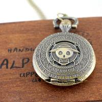 10pcs/lot Pirates of the Caribbean Pocket Watch Retro Watch man's gift