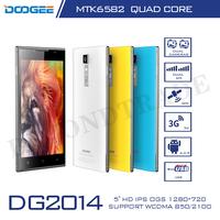 "New Original Doogee DG2014 MTK6582 Quad Core Android 4.2 5.0"" Smartphones 1GB RAM 8GB ROM 13MP Camera 3G Cell Phones 4 Colors"