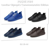 ROSHE RUN 2014 London Olympics Commemorative Edition 39-44 Men Women Low Sport Shoes Sneakers Running Shoes Black Blue Brown.