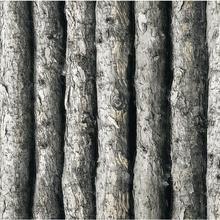 Legno vinile strutturato 3d carta da parati fitta foresta albero in