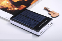 Brand New Full 30000mAh Solar Power Panel Dual USB External Mobile Battery Power Bank Black Silver Red Blue