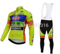 High quality !2014 VINI Fantini Thermal Fleece Cycling Jersey and bicicletas bib Pants ropa ciclismo clothing Sportswear MTB Hot