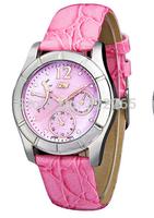 2014 new fashion luxury women dress watch quartz waterproof leather casual watch