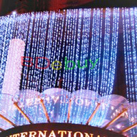 8X3M 800 Window LED curtain light for Christmas or wedding or party for hotel  for 10pcs/lot
