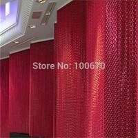 Exhibition Room Decorative Aluminum Chain Window Curtain / Door Curtain