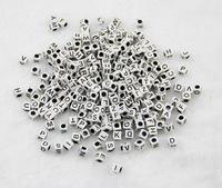 1000pcs 10bags/lot Family loom Bracelet Rubber Bands DIY Silicone loom Refills White Cube Letter Beads Pendants Accessories