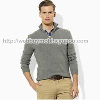 2014 hot men's sweaters, long sleeve raglan sleeve slim collar sweater pullover sweater men's clothing T-shirts Free shipping