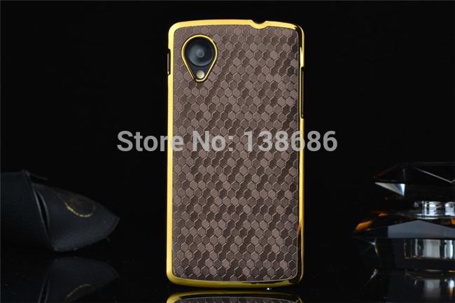 1 pçs/lote linha futebol couro vara caso galvanizado plástico rígido voltar tampa da caixa para LG Google Nexus 5 E980 D820 D821(China (Mainland))