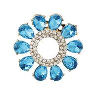 2014 New Elegant Rhinestones Acrylic Blue & Purple Garland Bride Women Brooches Pins,Wedding dress Pins Mix.$10 Free shipping,