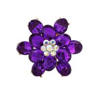 2014 New Elegant Rhinestones Acrylic Purple & Blue FLOWER Bride Women Brooches Pins,Wedding dress Pins Mix.$10 Free shipping,