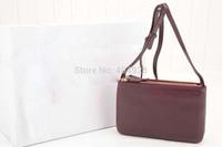 smooth  shoulder bag 2014 new color  fashion women design original cow leather  handbag top quality wholesale